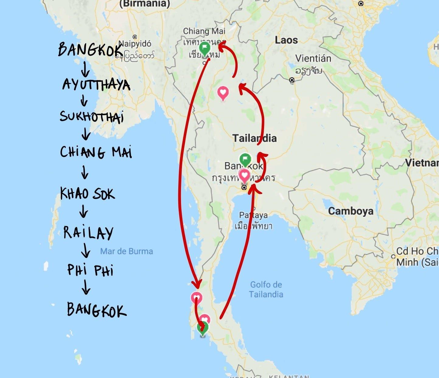 ruta 21 dias tailandia