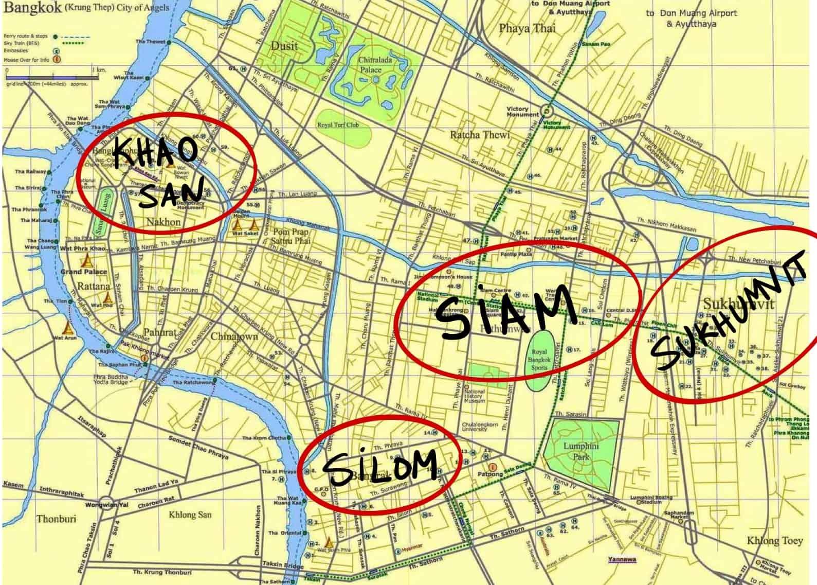 zonas para dormir bangkok