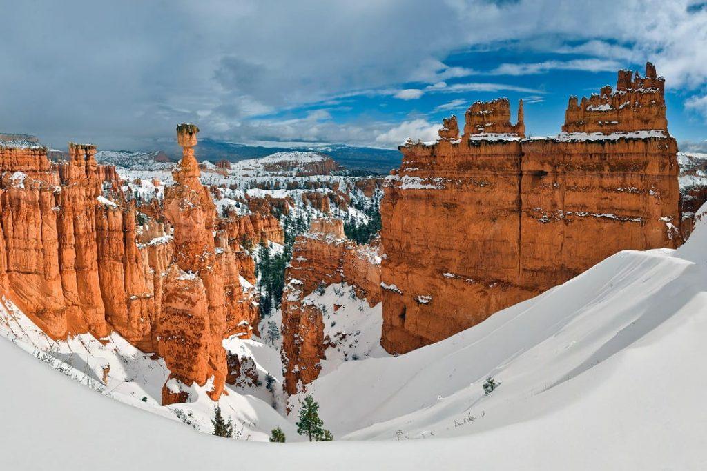 mejor epoca para viajar a la costa oeste, bryce canyon nevado