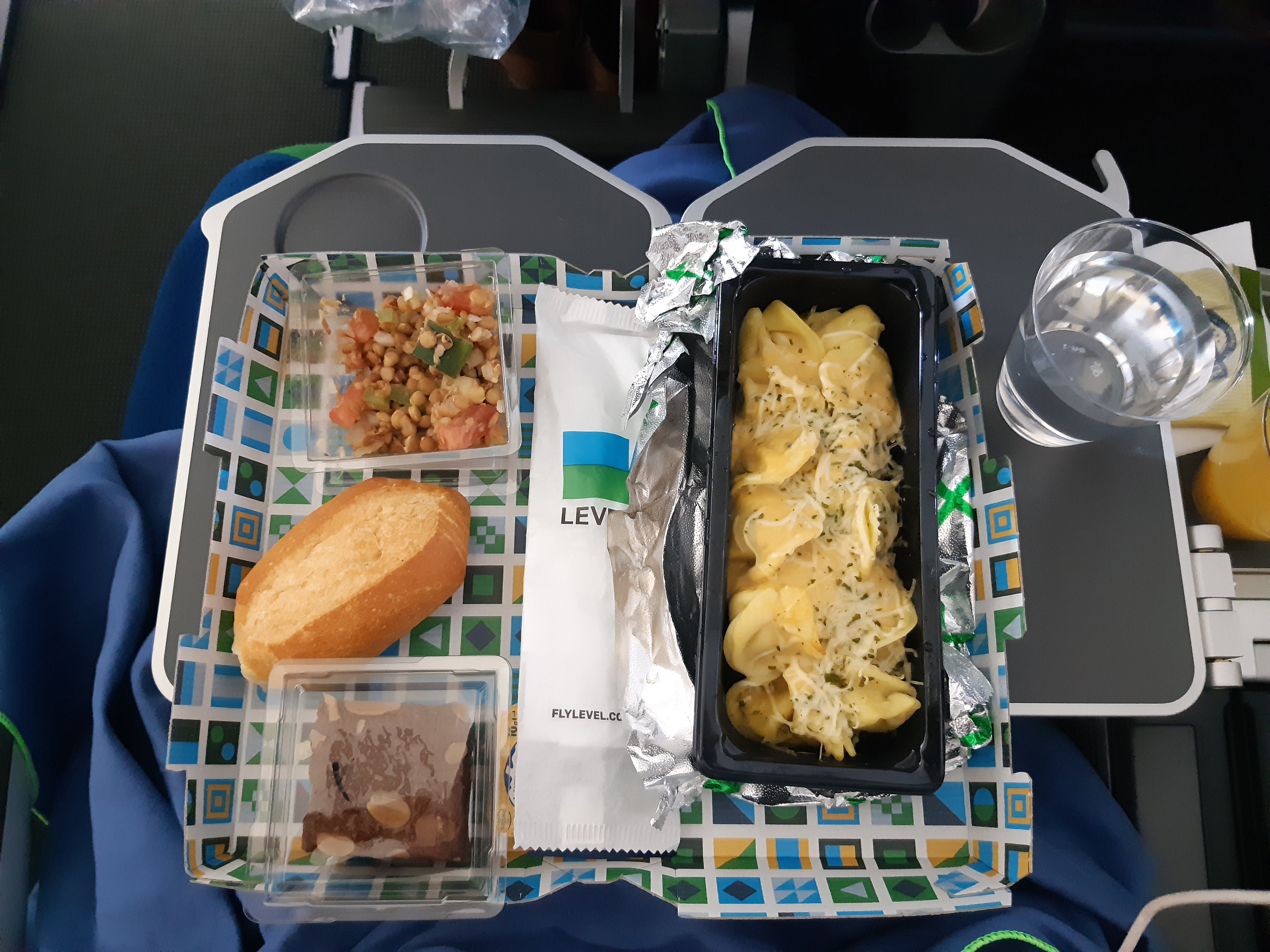 comida vegetariana avion level