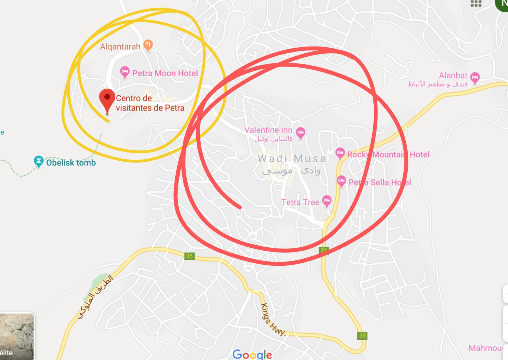 donde alojarse en petra jordania