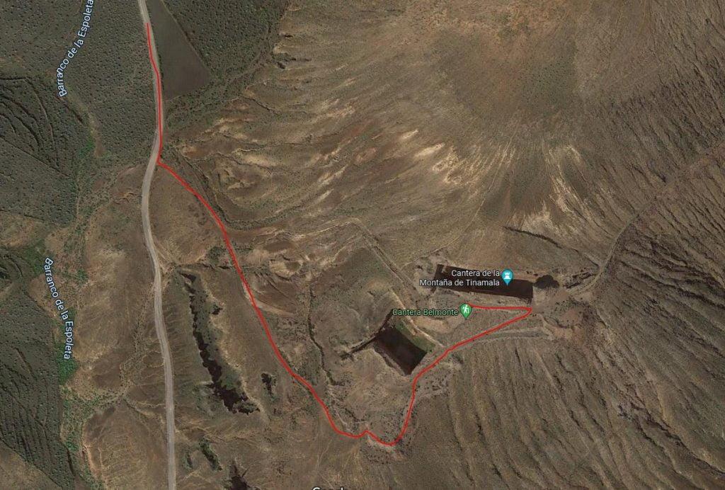 ruta canteras de tinamala lanzarote
